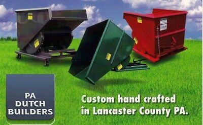 Self Dumping Dump Hoppers Dumpster Container 1/2 Yd Yard 3000 LBS for Forklifts