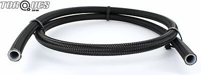 "AN -6 (JIC-6 5/16"" I.D 8mm) Black Stainless Braided PTFE Fuel Hose 1m"