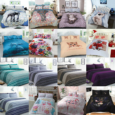 Xmas Christmas Special Bedding Cotton Rich Duvet Cover Sets Pillow Cases 3 Sizes