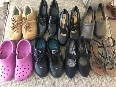 (8) Pair Womens Shoe Lot Assorted Brands/Styles Size (7&8)