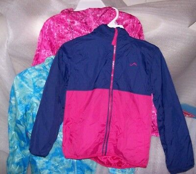 Girls Vertical 9 Windbreaker Jacket Multiple Colors And Sizes New With Tags