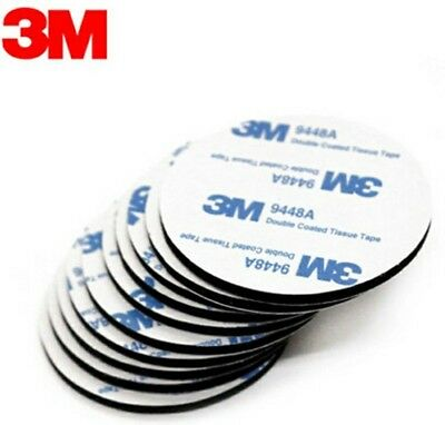 6pcs 30mm Round 3M 9448A Black Double Sided EVA Foam Tape Pad Mounting Tape Auto