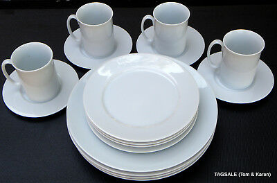 16 Piece Set BLOCK SPAL china LISBOA WHITE pattern PORTUGAL ~~~ dinner for 4