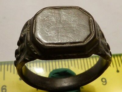 1403	Ancient Roman bronze massive ring 21mm.