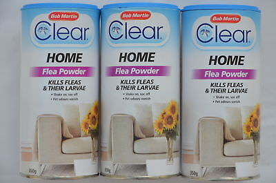 Clear Flea Powder Home Flea Kill Powder 250g Shake on Vac off