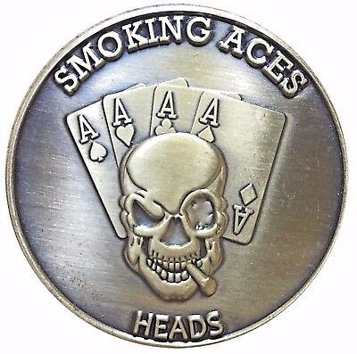 Gamblers Creed Lucky Mojo Heads Tails Challenge Coin Gift for Man