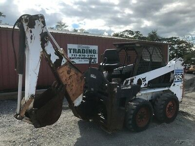 1998 Bobcat 763 Skid Steer Loader w/Backhoe Attachment!