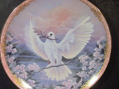 Bradford 1994 Radiant Messengers PEACE Dove  Ltd Ed Plate Box & Cert