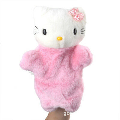 Hello Kitty Family Hand Fingers Puppets Baby Kids Development Pretend Plush Toys