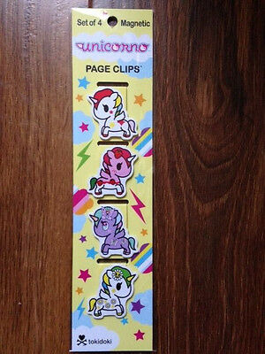 Re-marks Magnetic Page Clip, Unicorns - 4 count - 681410191085
