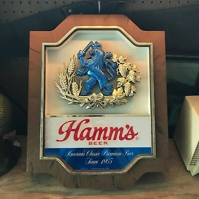 Vintage Hamms Beer Signs Tavern Advertisements Golden Age