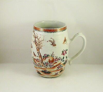 Very Fine Antique 18thC Chinese Famille Rose Porcelain Tankard Qianlong ca1770