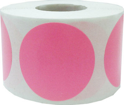 Circle Dot Stickers, 1.5 Inches Round, 40 Color Choices, 500 Labels on a Roll