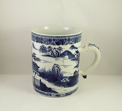 Very Fine Antique Chinese Blue & White Porcelain Tankard Jiaqing circa 1800 (1)