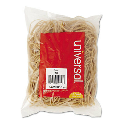UNIVERSAL Rubber Bands Size 18 3 x 1/16 400 Bands/1/4lb Pack 00418