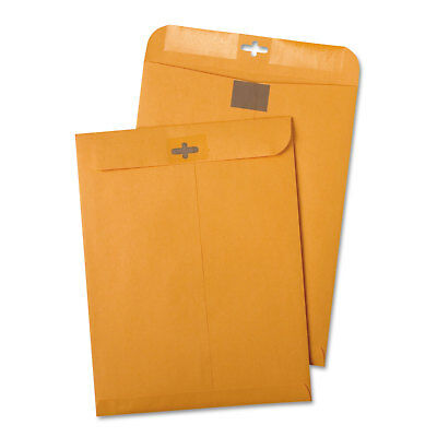 Quality Park Postage Saving ClearClasp Kraft Envelopes #55 6 x 9 Brown Kraft 100