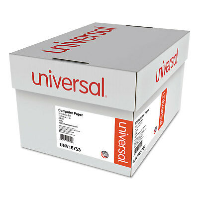 UNIVERSAL Green Bar Computer Paper 2-Part Carbonless 14-7/8 x11 Perforated 1650