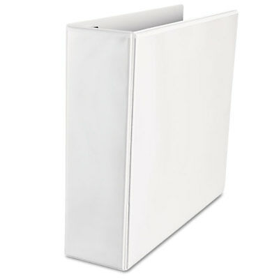 """UNIVERSAL Push-Open Deluxe Plus D-Ring View Binder 3"""" Capacity 8-1/2 x 11 White"""