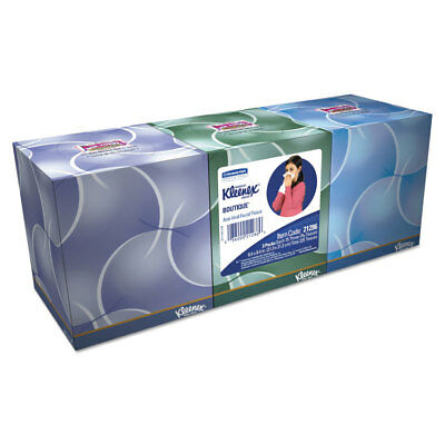 Kleenex Boutique Anti-Viral Tissue 3-Ply Pop-Up Box 68/Box 3 Boxes/Pack 21286