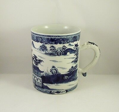 Very Fine Antique Chinese Blue & White Porcelain Tankard Jiaqing circa 1800 (2)