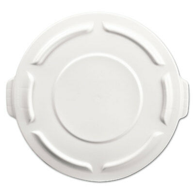 Rubbermaid Commercial Round Brute Flat Top Lid 19 7/8 x 1 4/5 White 261960WHI