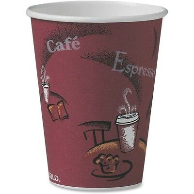 Solo Cup Paper Hot Cup 12 oz. 300/CT Maroon OF12BI0041