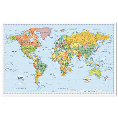 Advantus Corp M-Series Full-Color World Map 50 x 32 RM528012754