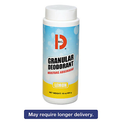 Big D Industries Granular Deodorant Lemon 16oz Shaker Can 12/Carton 150