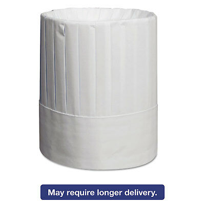 Royal Pleated Chef's Hats Paper White Adjustable 9 in Tall One Size 24/Carton