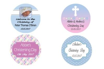 Personalised Christening Stickers Labels - various designs
