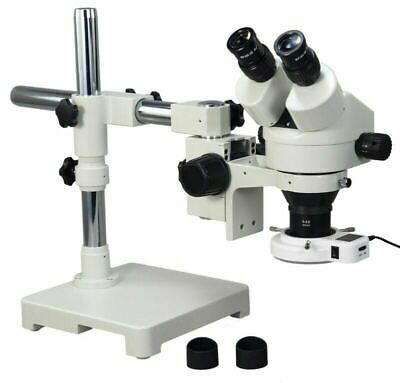 3.5X-45X Boom Stand Zoom Stereo Microscope+54 LED Light