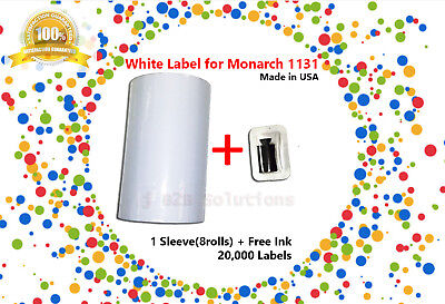 1 Sleeve Of Monarch 1131 White Label (8 Rolls / 20,000 Labels)