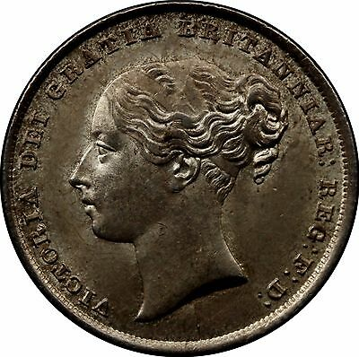1839 Shilling English Silver Coin From Victoria (1837-1901)