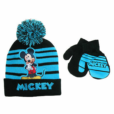 New Disney Infant / Toddler's Mickey Mouse Hat and Mitten Winter Set