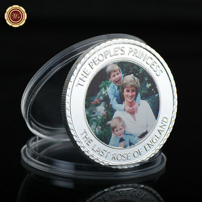 WR Princess of Wales Lady Diana 1 Oz 999 Silver Coin 20th Anniversary Souvenirs