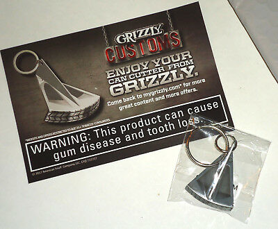 Grizzly Can Opener Smokeless Tobacco Chew Snuff Advertising Key Chain- Brand New
