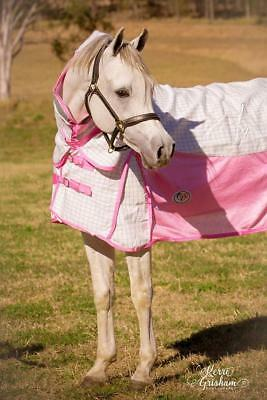 LOVE MY HORSE 4'9 - 6'6 Poly Cotton / Soft Mesh Hybrid Summer Combo - Pink