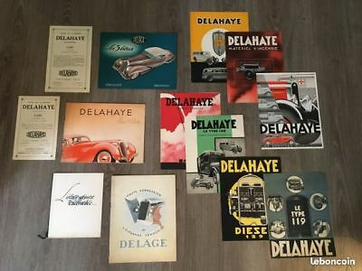 Lot de collection 13 catalogues Delahaye et Delage