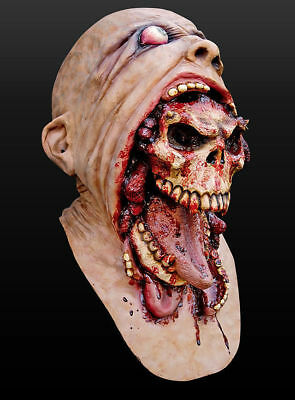 Rurah Zombie Mask Melting Face Halloween Scary Head Mask Adult Latex Costume NEW