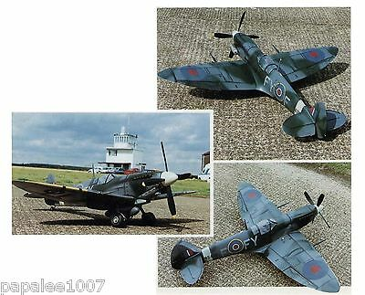 """Model Airplane Plans (RC): SPITFIRE Mk-IX 1/9 Semi-Scale 48"""" for .40 Engines"""
