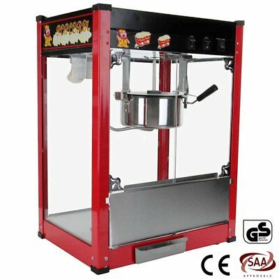 8oz Commercial Stainless Steel Popcorn Machine - Popper Popping Classic Cooker 9