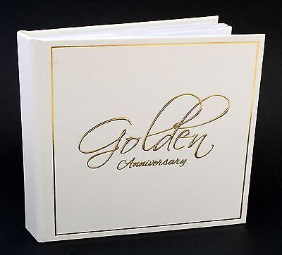 50th Golden Wedding Anniversary  Slip in Photo Album Present Gift