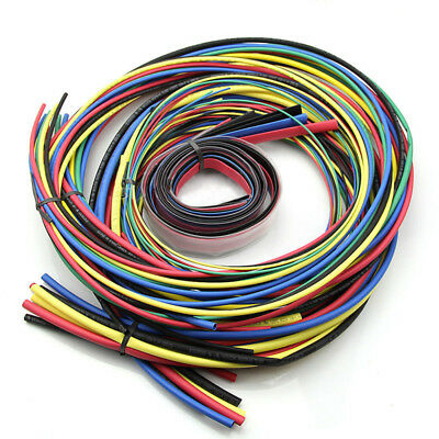 55m Heat Shrink Cable Wrap Assorted Tubing Electrical Connection Wire Sleeve