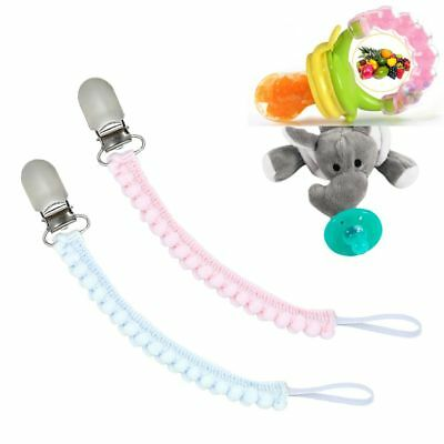 Infant Baby Unisex Dummy Pacifier Soother Nipple Leash Strap Chain Clip Holder