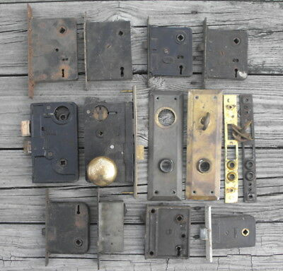 Lot of Vintage Mortise Locks & Hardware - Yale Corbin Russwin Pexto Sargent Etc