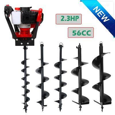 "52cc/56cc Gas Powered Post Hole Digger Engine Kit w/ 4""/6""/8""/10""/12'' Auger Bit"