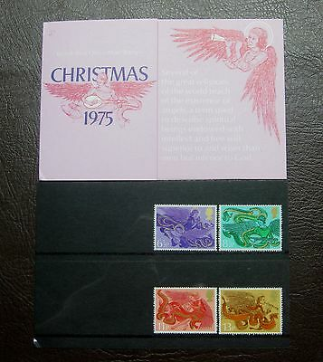 **Great Britain Post Office, Christmas Angels, 1975, 4 Mint Stamps**