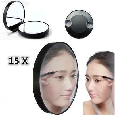 """15X Magnifying Mirror 3.5"""" Suction Cup Women Makeup Face Bathroom Home"""