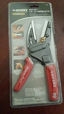 One (1) Husky 3-IN-1 Multi-Cut All Purpose Cutter #735 168 w/Extra Blades