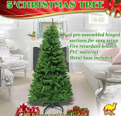 5/6/7/7.5ft Christmas Tree w Steel Base Decorate Ornament Xmas GREEN NATURAL